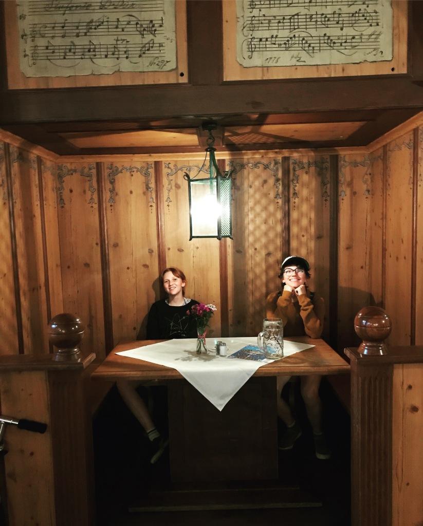 Upstairs table at Hoffbrauhaus